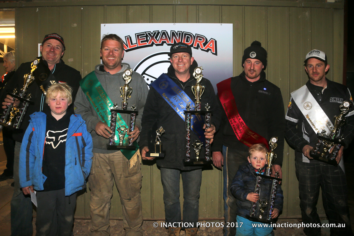 L to R - Steve Kershaw(4th), Andrew Jordan (3rd), Lennie Bonnici (1st), Brad Warren(2nd), Dale Smith (5th) – Photo courtesy of Inaction Photos