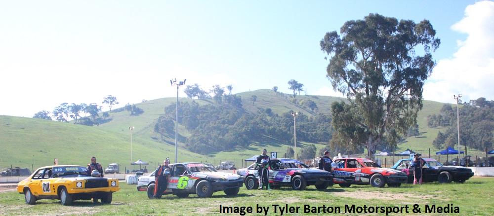 L-R Tim Cole, Brendan Miller, Tom McKenna, Damien Miller and Dale Morrison - Photo courtesy of Tyler Barton Motorsport and Media