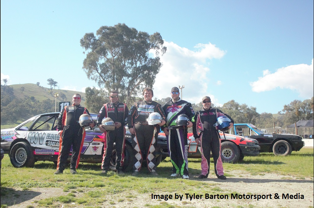 L-R Brendan Miller, Tim Cole, Brendan Miller, Tom McKenna and Dale Morrison - Photo courtesy of Tyler Barton Motorsport and Media