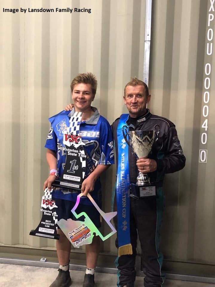 Rhys Lansdowne and Russell Hill - Photo courtesy of Lansdown Family Racing